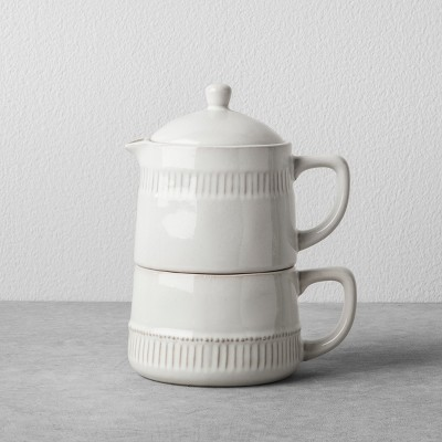 Coffee Pot & Mug Set Cream - Hearth & Hand™ with Magnolia