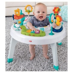 Fisher Price Sit And Play Chair Cloth Covers Home 2 In 1 To Stand Activity Center Safari Target