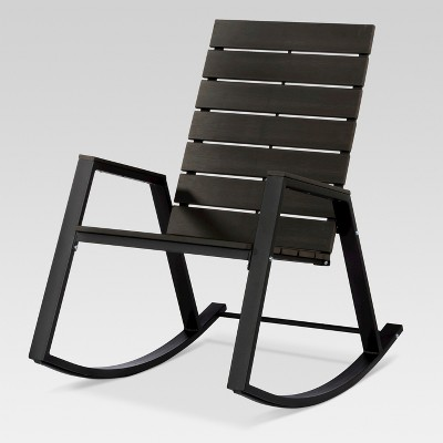 outdoor rocking chairs modern leather swivel desk chair bryant faux wood patio black project 62 target