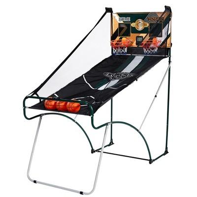 Lancaster Sports Ez-Fold 2 Player Indoor Arcade Dual Basketball Hoop Shooting Game