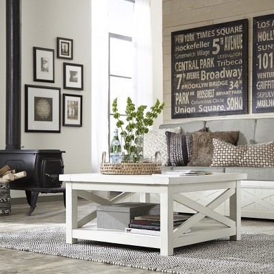 seaside lodge coffee table white home styles