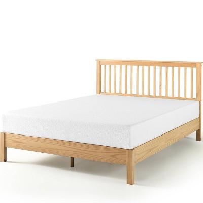 twin becky farmhouse wood platform bed natural zinus