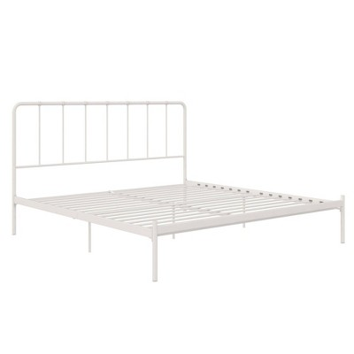 king avery metal bed white room joy
