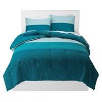 Textured Colorblock Comforter Set - Blue - Room Essentials ...