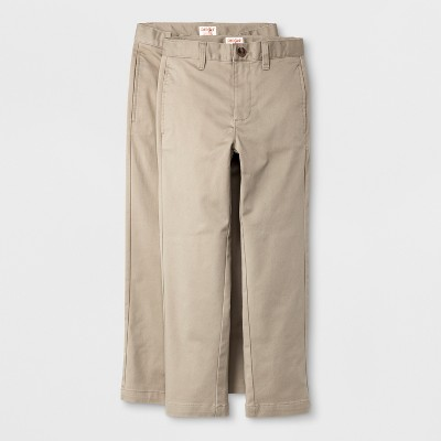 Boys' 2pk Ultimate Flat Front Uniform Chino Pants - Cat & Jack™