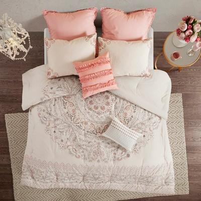 8pc Kaia Cotton Printed Reversible Comforter Set