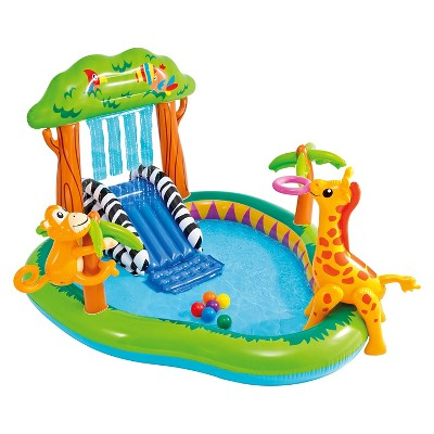 "Intex 85"" X 74"" X 49"" Jungle Play Center Inflatable Pool with Sprayer"