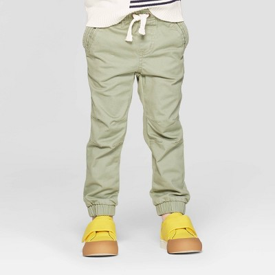Toddler Boys' Stretch Twill Front Jogger Pants - Cat & Jack™ Green