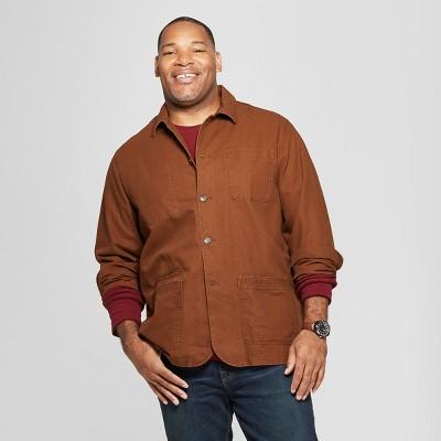 Men's Big & Tall Canvas Chore Blazer - Goodfellow & Co™ Stick Brown