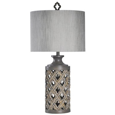 Moroccan Stormy Skies Table Lamp Gray (Includes Light Bulb) - StyleCraft
