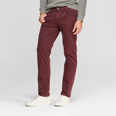 Men's Straight Fit Chino Pants - Goodfellow & Co™ Garnet Rose
