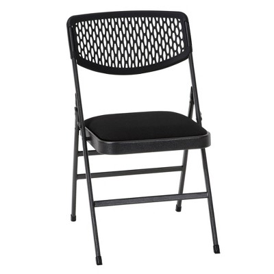 folding chair fabric cover rentals in little rock ar 4pk and resin hammertone black cosco target