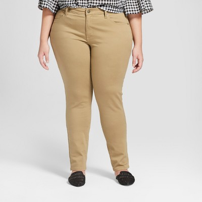 Women's Plus Size Skinny Jeans - Universal Thread™ Tan