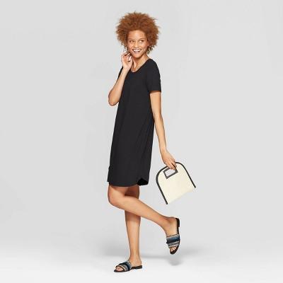 Women's Regular Fit Short Sleeve Crewneck Shift Dress - A New Day™