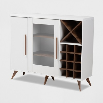 Pietro Finished Wine Cabinet - Baxton Studio