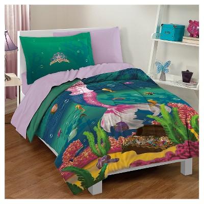Dream Big® Sea Princess Mini Comforter Set - Green (Twin)