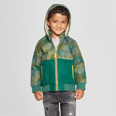 Genuine Kids® from Oshkosh Toddler Boys' Color Black Jacket - Green