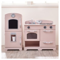 Wooden Play Kitchen Design Charlotte Nc Teamson Kids Retro Pink 2pc