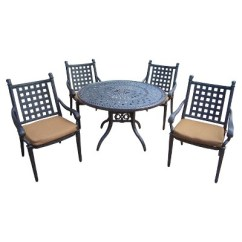 Aluminum Dining Chairs Target Christmas Plaid Chair Covers Rosemont 5 Piece Patio Furniture Set