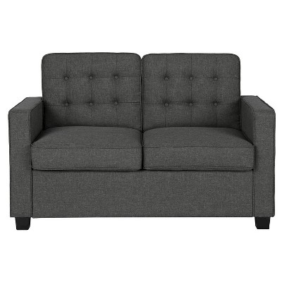twin chair sleeper sofa black king throne avery with certipur certified memory foam mattress gray signature sleep target