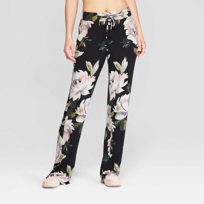 Women's Floral Print Beautifully Soft Pajama Pants - Stars Above™ Black