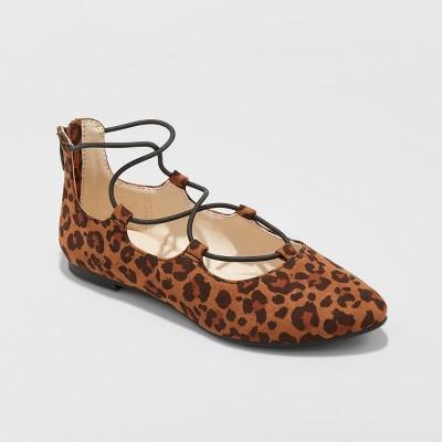 Girls' Evita Wide Width Ballet Flat - Cat & Jack™