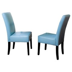 Teal Colored Chairs Divani Casa Charles Modern White Leather Reclining Chair T Stitch Dining Wood Blue Set Of 2 Christopher Knight Home