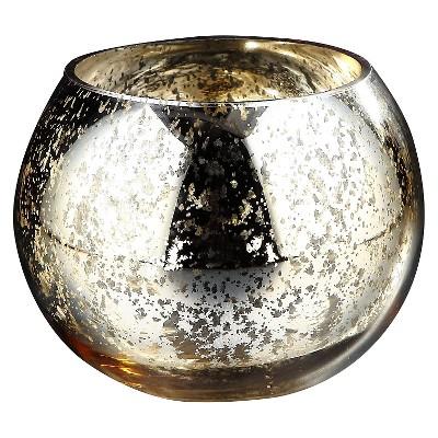 Metallic Glass Candleholder Gold - Diamond Star®