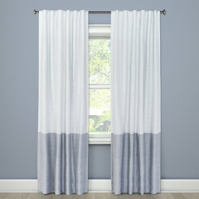 108 x50 blackout color block curtain panel gray project 62