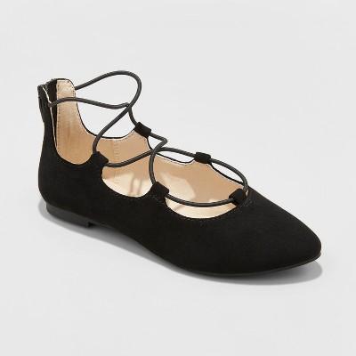 Girls' Evita Lace up Ballet Flat - Cat & Jack™