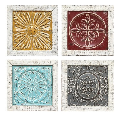 Stratton Home Decor 12 X12 Set Of 4 Accent Tile Wall