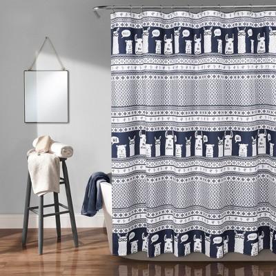 https www target com p 72 x72 llama stripe shower curtain navy lush decor 174 a 75566137