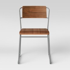 Silver Metal Dining Chairs Wooden Child Rocking Chair Killiam Mixed Material Sled Wood And Project 62 Target