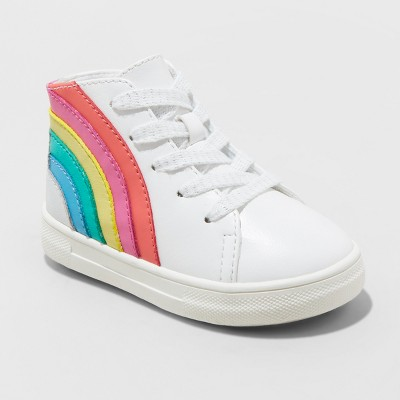 Toddler Girls' Musetta Rainbow Sneakers - Cat & Jack™ White
