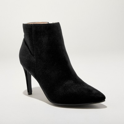 Women's Norelle Microsuede Stiletto Pointed Bootie - A New Day™