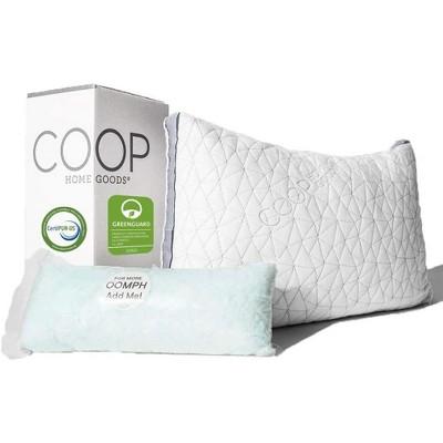 coop home goods the eden adjustable memory foam pillow for cool sleepers queen