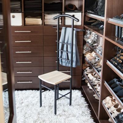 bedroom wardrobe chair valet retro metal garden chairs danya b black target 5 more