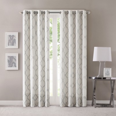 Sereno Fretwork Print Curtain Panel