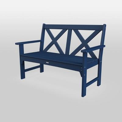 shawboro polywood outdoor patio bench navy threshold