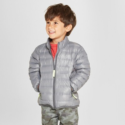 Toddler Boys' Down Puffer Jacket - Cat & Jack™ Gray