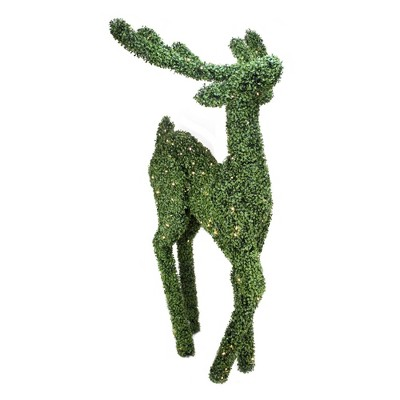 Northlight 6' Pre-Lit Boxwood Standing Reindeer Christmas Outdoor Decoration - Warm White LED Lights