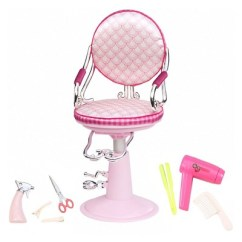Doll Salon Chair Folding Table And Chairs For Camping Our Generation Accessory Set Pink Ivory Target