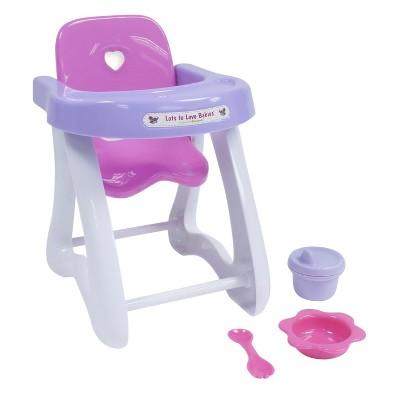 baby toy high chair set wing back slip cover jc toys for keeps 11 doll gift 4pc target about this item