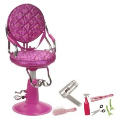Doll Salon Chair Bedroom Gold Coast Our Generation Sitting Pretty Hot Pink Target