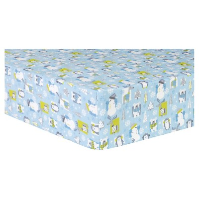 Trend Lab Deluxe Flannel Fitted Crib Sheet - Snow Pals
