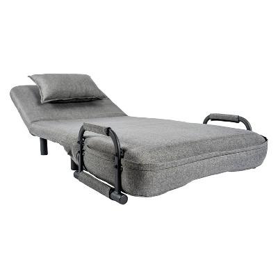 single sleeper chair plush kids pragmabed convertible target