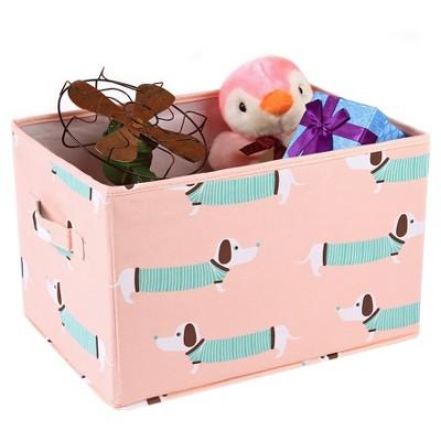 Sausage Dog Toy Storage Container Set - Lush Decor