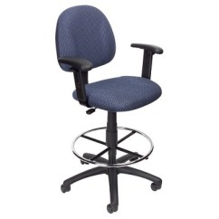 Drafting Office Chair How To Repair Outdoor Chairs Stool With Footring And Adjustable Arms Blue Boss Products Target