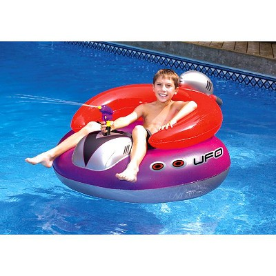 pool chair floats target the chords new swimline 9078 swimming ufo squirter toy inflatable lounge float