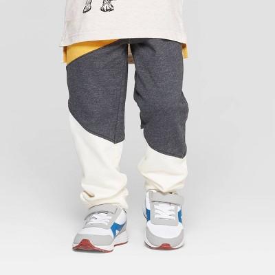 Genuine Kids® from OshKosh Toddler Boys' Colorblock Jogger Pants - Gray/Yellow